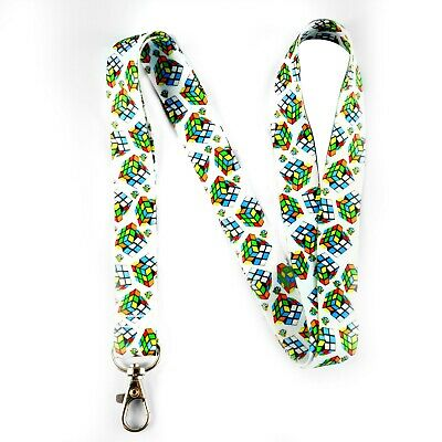 Rubiks Cube lanyard/keychain with clip for keys or id badges, Free shipping!!