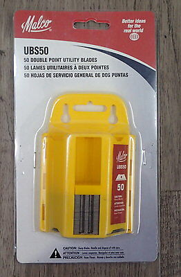 New Malco UBS50 Qty. [50] Utility Blades Made with special alloy steel