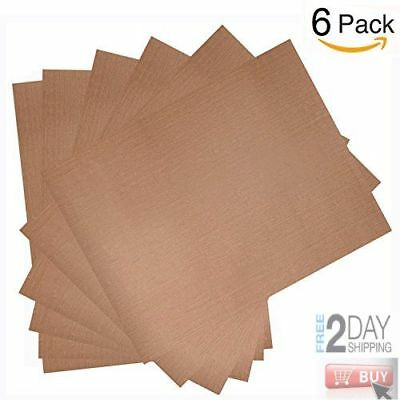 6 Pack Teflon Sheet For 16 x 20 Heat Press Transfer Sheet Non Stick Reusable Mat