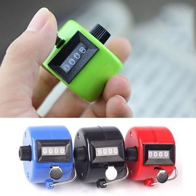 4 Digital Manual Counter Tally Counter Count Number Counting Handheld