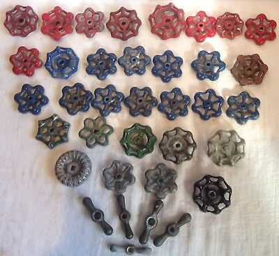 36 Vintage Valve Handles Water Faucet Knobs STEAMPUNK Industrial lot Thirty Six