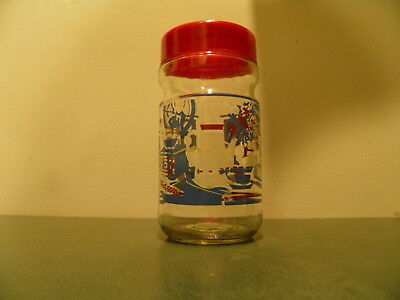 Vintage Maxwell House Instant Coffee Country Kitchen Reusable Litho Glass Jar