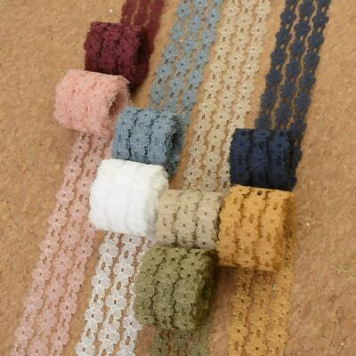 10 Metres Embroidered Net Lace Trim Ribbon 2.5 cm Multicolour Choice Wholesale!
