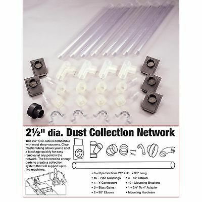 """WoodRiver 2-1/2"""" Clear Dust Collection Network"""