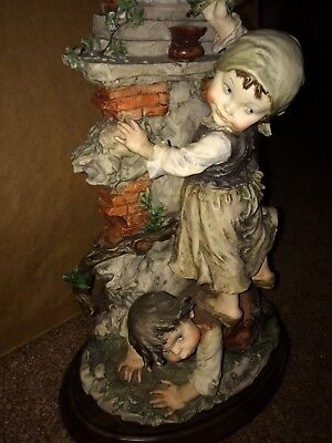 Giuseppe Armani statue used and good condition children with The Madonna