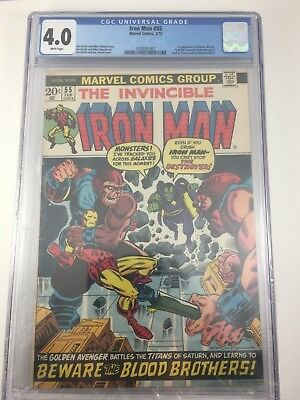Iron Man 55 CGC 4.0 1st appearance of Thanos Mentor Drax Starfox Kronos and Bloo