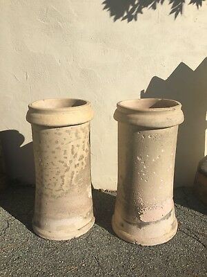 *** Antique French English Chimney Pots (Pair) Rtl: $1500.00 ***