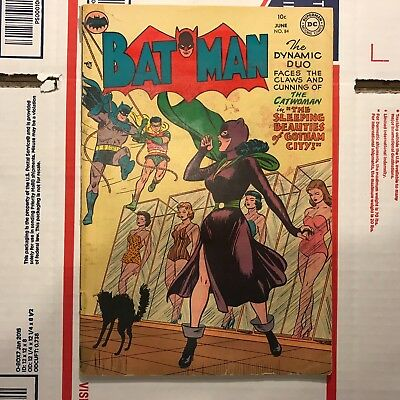 Batman #84 (June 1954 DC Comics) Golden Age Comic Book! Catwoman cover!