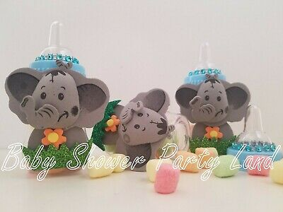 12 Elephant Fillable Bottles Baby Shower Favors Prizes Safari Jungle Noah's