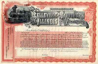 18__  Belleville & Southern Illinois RR Stock Certificate