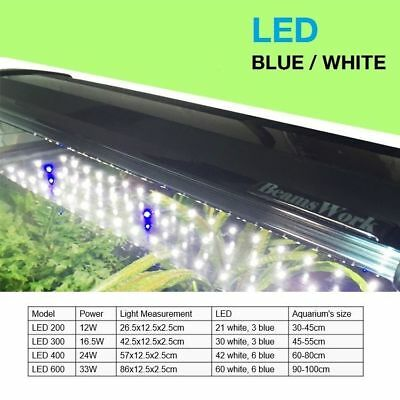 Aquarium LED Light Fixture Aqua Fish Tank Blue White Bright Freshwater Plant