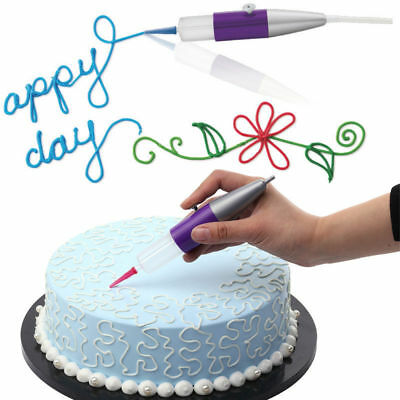 Icing Piping Nozzle Fondant Cake Craft Writing Drawing Pen with Compressor Air
