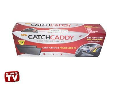 New 2 pc Pack Catch Caddy Car Seat Slit Pocket Catcher Organizer AS SEEN ON TV