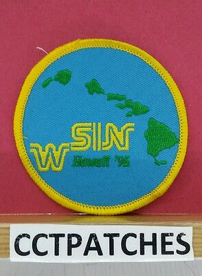 Western States Information Network Wsin Honolulu, Hawaii '95 Police Patch