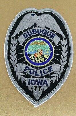 Dubuque, Iowa Police Badge Shoulder Patch Ia