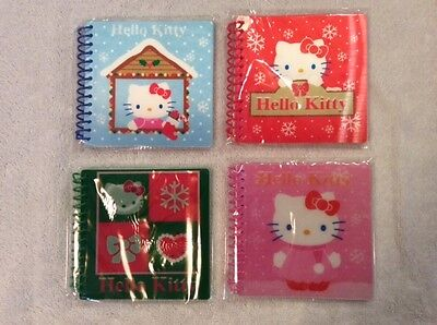 "Hello Kitty 4"" x 4"" Spiral notebooks- set of 4 - 40 sheets/book, Birthday Favor"