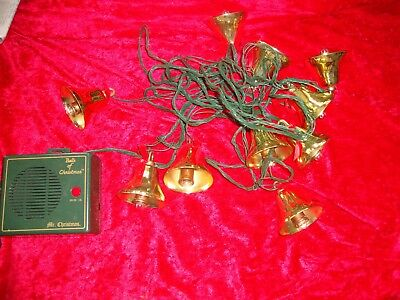 Mr. Christmas Bells Of Christmas 1992 Lighted 10 Bells no power cord