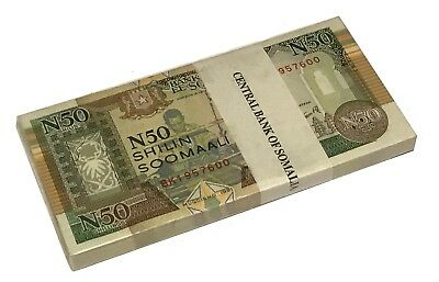 Somalia 50 Shillings 1991 P R2 Unc ( Bundle 100 Notes)