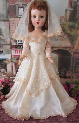 Beautiful Vintage American Character 20in Sweet Sue Bride Doll All Original