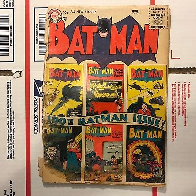 Batman #100 (June 1956 DC Comics) Golden Age Comic Book!