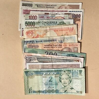 Foreign Currency Bank Notes Mixed Lot 1990's