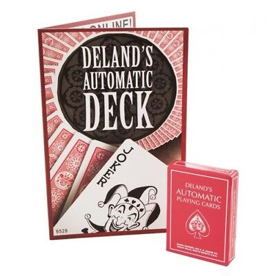 Deland's Automatic Ultimate Marked Red Deck By Magic Makers Stripper Card Tricks