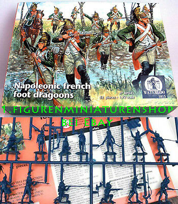 1:72 Figuren Ap041 Napoleonic French Foot Dragoons - Waterloo Neu