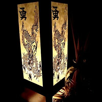 Chinese Dragon White Black Table Lamp Lighting Shades Floor Desk Outdoor Touch 2