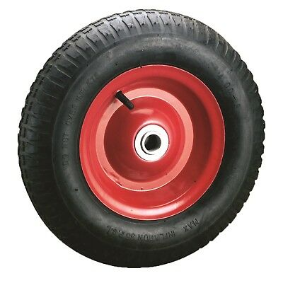 "Ambassador STEEL WHEELBARROW WHEEL WITH 1"" AXLE DIAMETER 4.0x8"" Thick Tread"