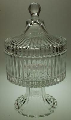 Mikasa Diamond Fire Canister with Lid or Candy Dish Footed SA229