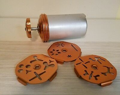 Vintage Mirro Aluminum Copper Dial-A-Cookie Pastry Press in EXC!