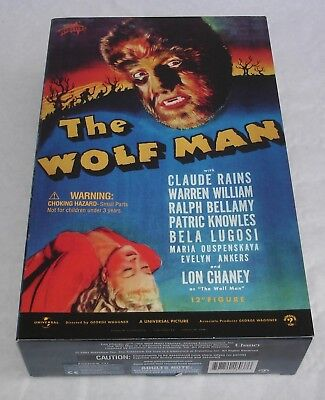 "Sideshow 12"" Figur - The Wolf Man - Monsters Serie OVP. - Lon Chaney"