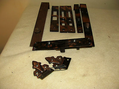 Vintage French Door Bolt Latch Antique Mortise Hardware