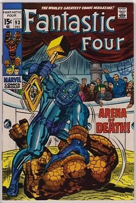 Fantastic Four #93 Marvel Comics 1969