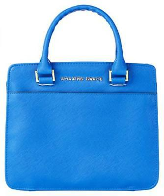 Amazing Grace Purse-Style Bible Cover, Blue, Large Leather Bound – March 11,...