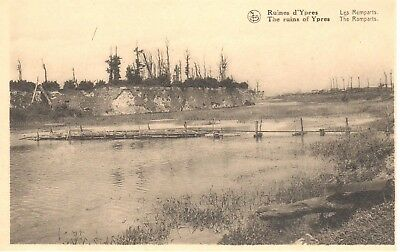 carte postale - Ypres - leper - CPA - Ruine d'Ypres - The ruins of Ypres
