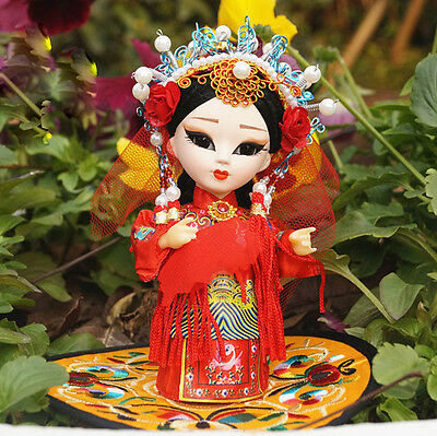 6'' Q Version Chinese Peking Opera Performer Beauty Chinese Asian Doll Bride