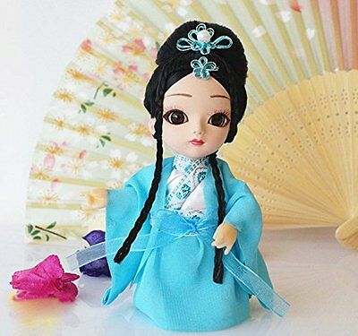Mini 6'' Peking Opera Q Version Doll Beauty Girl Handmade Decor Gift Collection