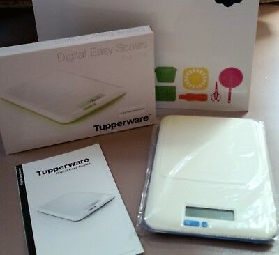 Bnib Tupperware Slimline Digital Scales Raindrop Blue