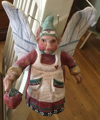 1989, House of Hatten Winged, Strawberry Kitchen Elf Fairy FREE SHIP