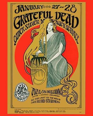 GRATEFUL DEAD Jerry Garcia Concert Poster 8 x 10 Glossy Photo Poster Print