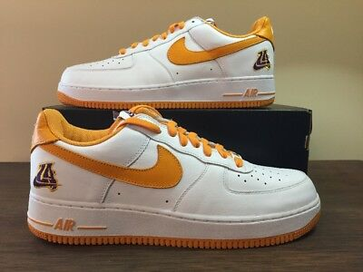 cheaper 034c2 2bc65 Nike Air Force 1 AF1 Low UNDEFEATED LA LAKERS WHITE YELLOW 845053-103 sz 12