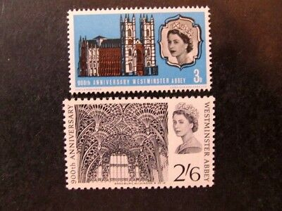 Great Britain, Sc# 452-453, Westminster Abbey Set (1966) Mnh
