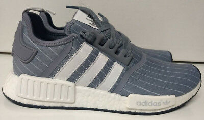 f393ba59ff52c Adidas NMD R1 Size 10 Bedwin   The Heartbreakers Grey White Mens Shoe BB3123