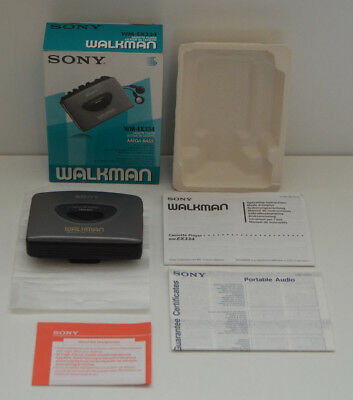 Boxed Sony Walkman WM-EX334  Personal Portable Cassette Tape Player Mega Bass
