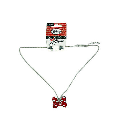 Miss Minnie Minnie Mouse Necklace Set Necklace And Earrings