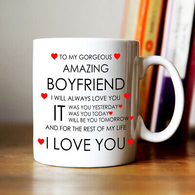 To My Gorgeous amazing boyfriend gift mug cup love you ideal birthday present