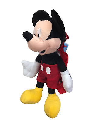 """Mickey Mouse Plush Backpack! Doll Bag Stuffed Toy Figure Licensed Disney 16"""" New"""