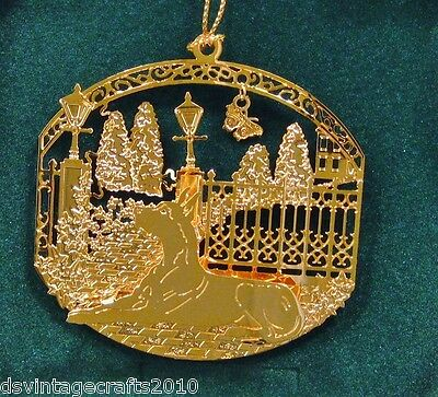 Great Dane 24k Gold Plated Ornament New By Kingsheart Forge