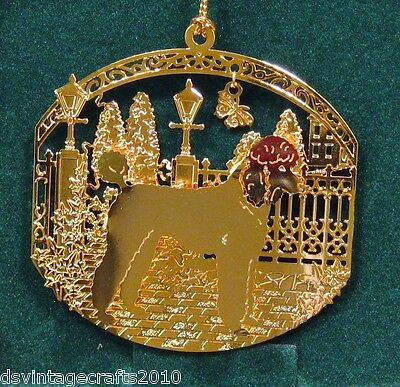 Poodle Standard 24k Gold Plated Ornament New By Kingsheart Forge